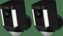 Ring Spotlight Cam Battery Schwarz Duo Pack