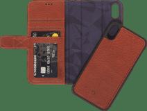 Dekodierte 2-in-1-Lederbrieftasche Apple iPhone Xs Max Book Case Braun
