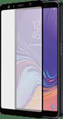 Azuri gebogenes gehärtetes Glas Samsung Galaxy A7 (2018) Displayschutzglas Schwarz