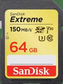 SanDisk SDXC Extreme, 64 GB, 150 MB/s