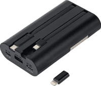 iWalk Secretary + Quick Charge Powerbank 10.000 mAh Schwarz