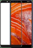 Azuri gehärtetes Glas Nokia 3.1 Plus Displayschutzglas Schwarz