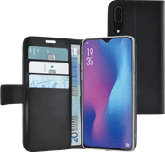Azuri Wallet Magnet Huawei P30 Bücherregal Schwarz