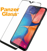 PanzerGlass Fall freundlich Samsung Galaxy A20e Displayschutzfolie Glas Schwarz