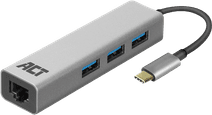 ACT USB-C 3-Ports Hub mit Ethernet