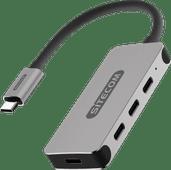Sitecom USB-C zu USB-C Hub 4 Port - 5 Gbps