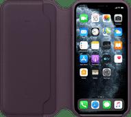 Apple iPhone 11 Pro Leder Folio Aubergine