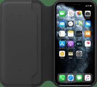 Apple iPhone 11 Pro Max Leder Folio Schwarz