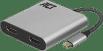 ACT USB-C zu Dual HDMI 4K Hub
