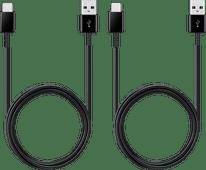 Samsung USB-A nach USB-C Kabel 1,2 Kunststoff Schwarz Duo Pack