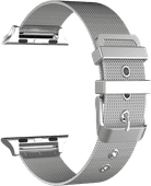Just in Case Apple Watch 42/44 mm Milanaise Armband Silber