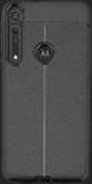 Nur für den Fall Soft Design TPU Motorola One Macro Rückseite Schwarz