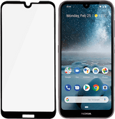 PanzerGlass Fall freundlich Nokia 4.2 Displayschutzfolie Glas Schwarz