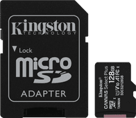 Kingston microSDXC Canvas Select Plus, 128 GB, 100 MB/s + SD-Adapter