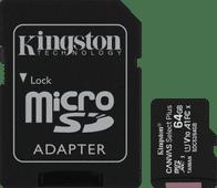 Kingston microSDXC Canvas Select Plus, 64 GB, 100 MB/s + SD-Adapter