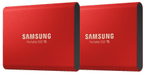 Samsung Portable SSD T5, 500 GB Duo-Pack Rot