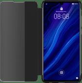 Huawei P30 View Flip Cover Book Case Schwarz