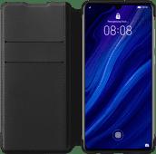 Huawei P30 Flip Cover Book Case Schwarz