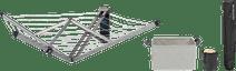Brabantia Wandwäschetrockner mit Schutzhülle + Wäschekorb + Wäscheklammerntasche