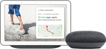 Google Nest Hub Anthrazit + Google Nest Mini Grau