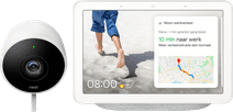 Google Nest Cam Outdoor + Google Nest Hub Chalk