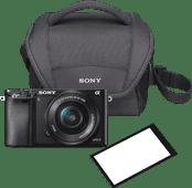 Sony A6000 Schwarz + PZ 16- bis 50-mm-OSS + Tasche + Displayschutz