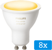 Philips Hue White Ambiance GU10 Bluetooth 8er-Pack