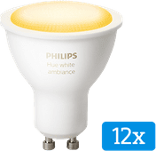 Philips Hue White Ambiance GU10 Bluetooth 12er-Pack