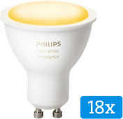 Philips Hue White Ambiance GU10 Bluetooth 18er-Pack