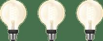 Philips Hue Filamentlampe White Globe E27 3er-Pack Bluetooth