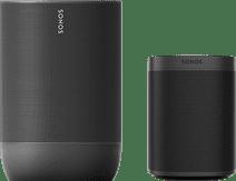 Sonos Move Schwarz + Sonos One SL Schwarz
