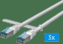 BlueBuilt Netzwerkkabel FTP CAT6 15 Meter Weiß 3er-Pack