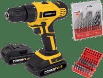 Powerplus POWX0069LI + Kreator Bohrerset und Bit-Set