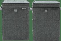 Brabantia Wäscheboxen 35 Liter: Doppelpack Pepper Black