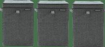 Brabantia Wäscheboxen 35 Liter: 3er-Pack Pepper Black