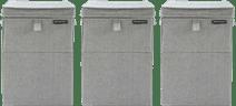 Brabantia Wäscheboxen 35 Liter: 3er-Pack Grau