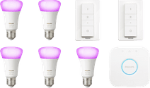 Philips Hue White & Colour Starter 5er-Pack E27 + 2 Dimmer