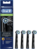 Oral-B Cross Action schwarze Bürstenköpfe (4 Stück)