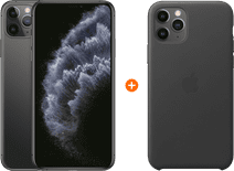 Apple iPhone 11 Pro Max 256 GB Space Gray + Apple iPhone 11 Pro Max Leather Backcover