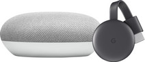 Google Nest Mini Weiß + Google Chromecast 3