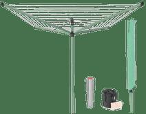 Brabantia Wäschespinne Lift-O-Matic 50 Meter + Schutzhülle + Wäscheklammerntasche + Wäsche
