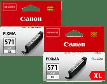 Canon CLI-571XL Patronen Grau Duo Pack