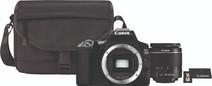 Canon EOS 250D Schwarz + 18-55 mm f/3.5-5.6 DC III + Tasche + 16 GB Speicherkarte + Tuch