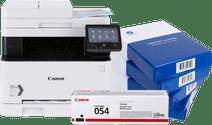 Canon i-Sensys MF643Cdw + schwarzer Toner + A4-Papier