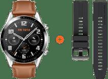 Huawei Uhr GT 2 Silber/Braun 46 mm