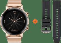 Huawei Uhr GT 2 Edelstahl Rosé Gold 42 mm
