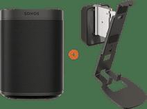 Sonos One SL + Vogels Sound Wandhalterung Schwarz