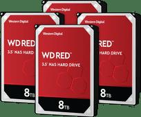 WD Red WD80EFAX 8 TB 4er-Pack - RAID 0, 1, 5, 6 oder 10
