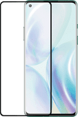 Azuri Rinox Fall freundlich OnePlus 8 Displayschutzglas Black Edge