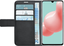 Azuri Brieftasche Samsung Galaxy A41 Bücherregal Schwarz